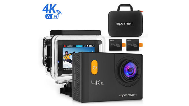 apeman action kamera wifi sports cam 4k camera test